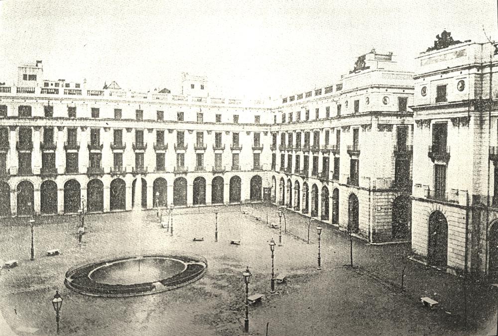 Plaça Reial 1870
