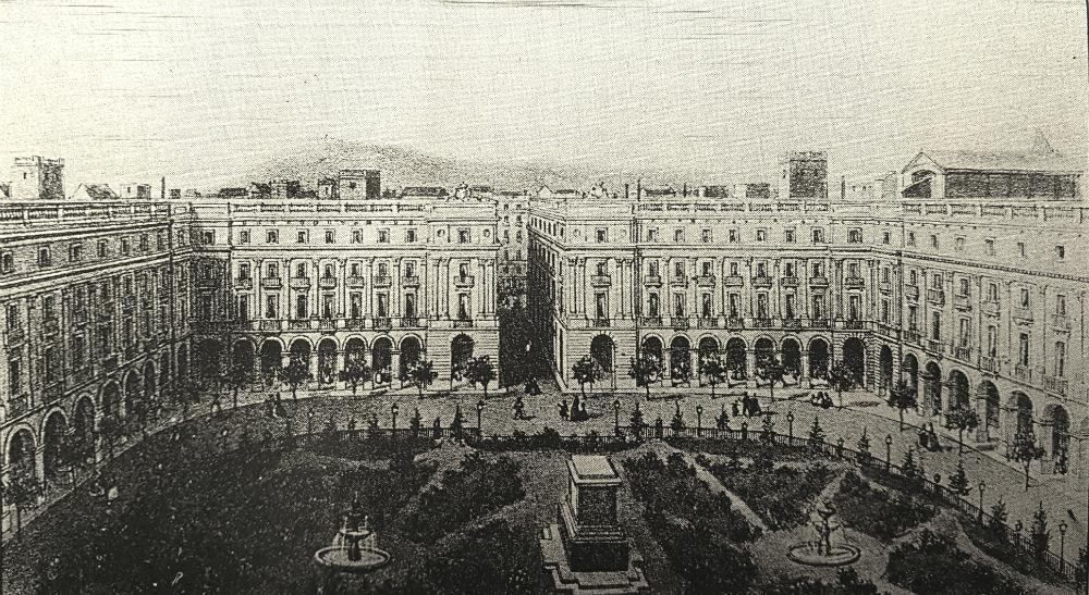 Plaça Reial 1860.
